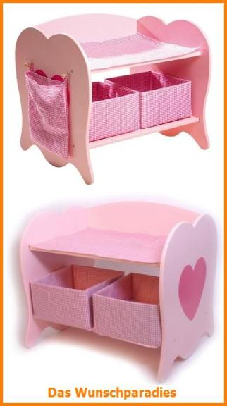 wickeltisch f r puppen holz rosa puppenwickeltisch. Black Bedroom Furniture Sets. Home Design Ideas